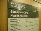 One of our custom signs in Edmonton at The University of Alberta