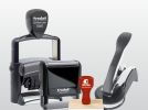 Our product line of rubber stamps, self inking stamps and corporate seals